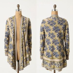 Anthropologie Guinevere pointed tapestry cardigan